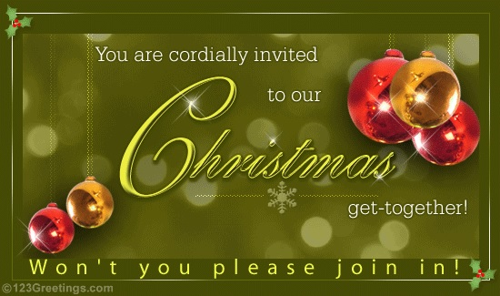 Christmas Social Notice